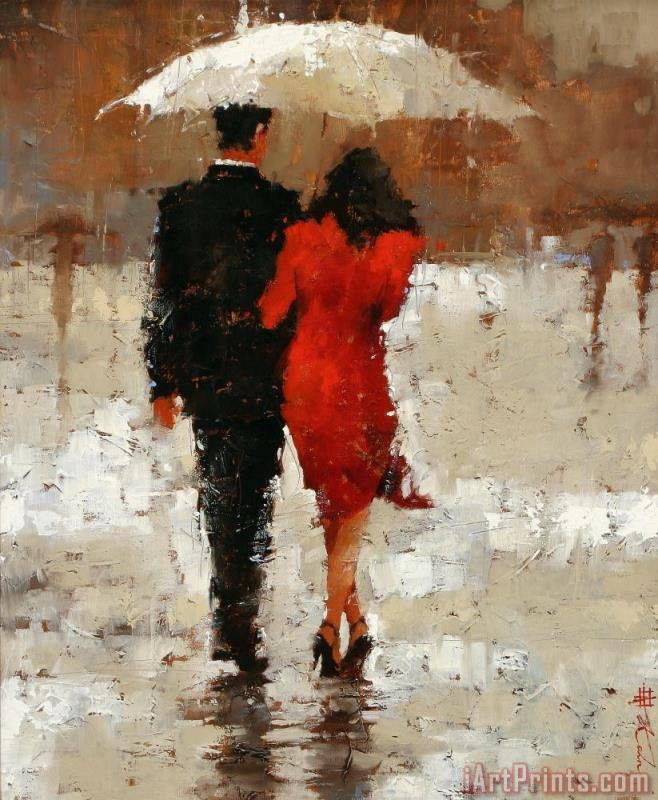 The Anniversary painting - Andre Kohn The Anniversary Art Print