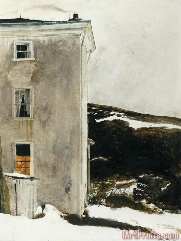 Unknown painting - andrew wyeth Unknown Art Print