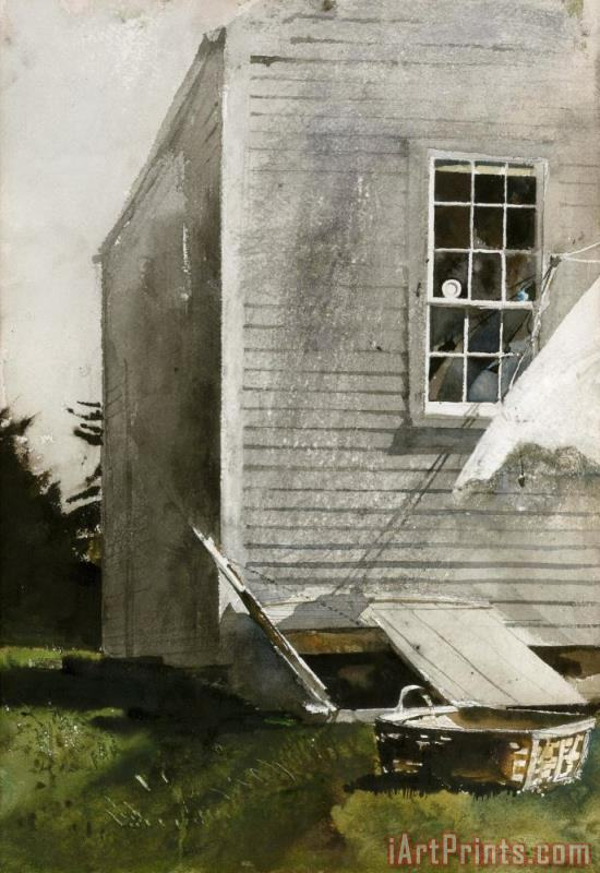Wash Basket 1968 painting - andrew wyeth Wash Basket 1968 Art Print