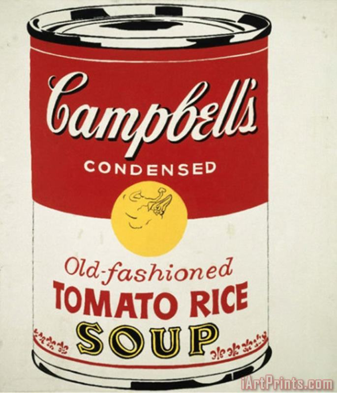 Art Prints Andy Warhol Campbell S Soup Can C 1962 Old Fashioned Tomato Rice Art Painting