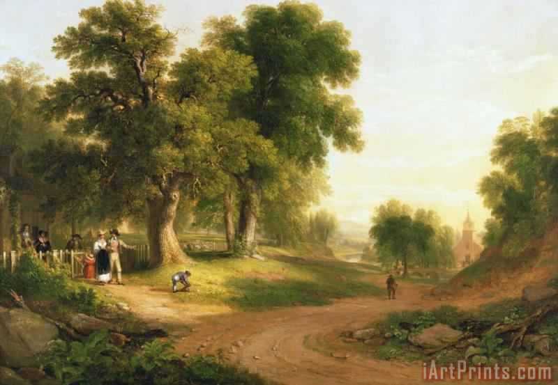 Asher Brown Durand Sunday Morning Art Print