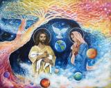 Jesus Art - Cloud Colored Christ Come by Ashleigh Dyan Moore