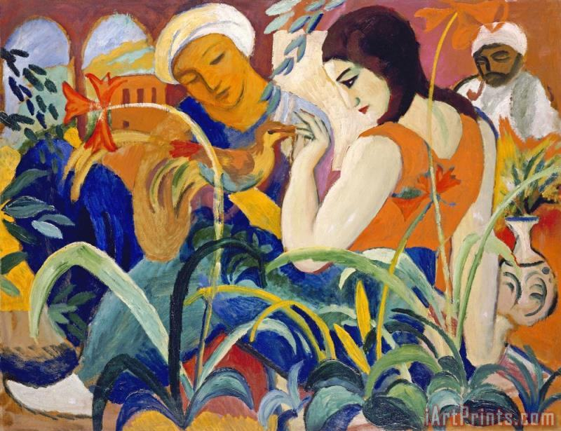 August Macke Eastern Women Art Print
