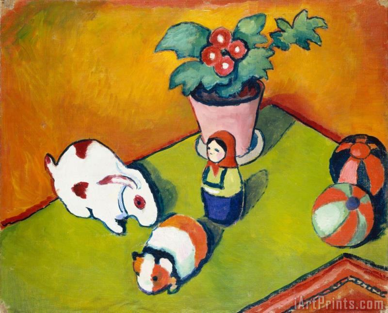 August Macke Little Walter's Toys Art Print
