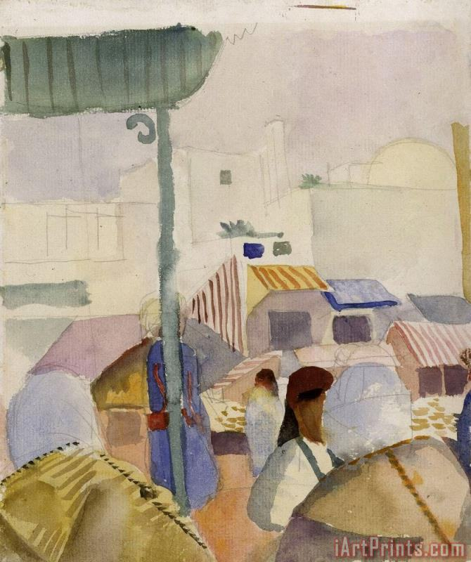 Market in Tunis II painting - August Macke Market in Tunis II Art Print