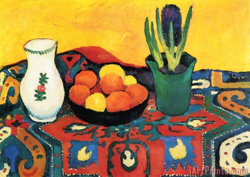 August Macke Still Life Hyacinths Carpet Art Print