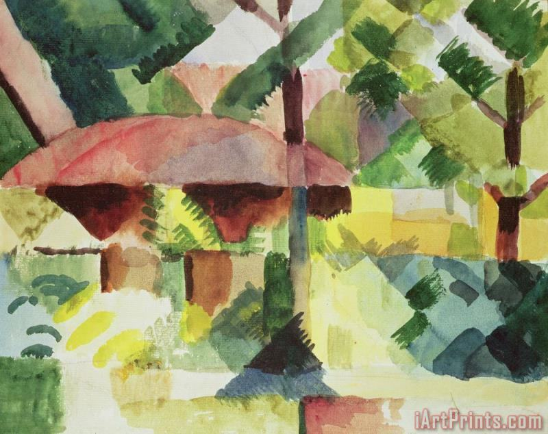 August Macke The Garden Art Print