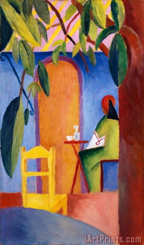 Turkish Cafe II painting - August Macke Turkish Cafe II Art Print