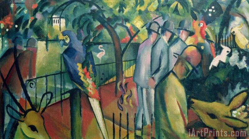 Zoological Garden I painting - August Macke Zoological Garden I Art Print