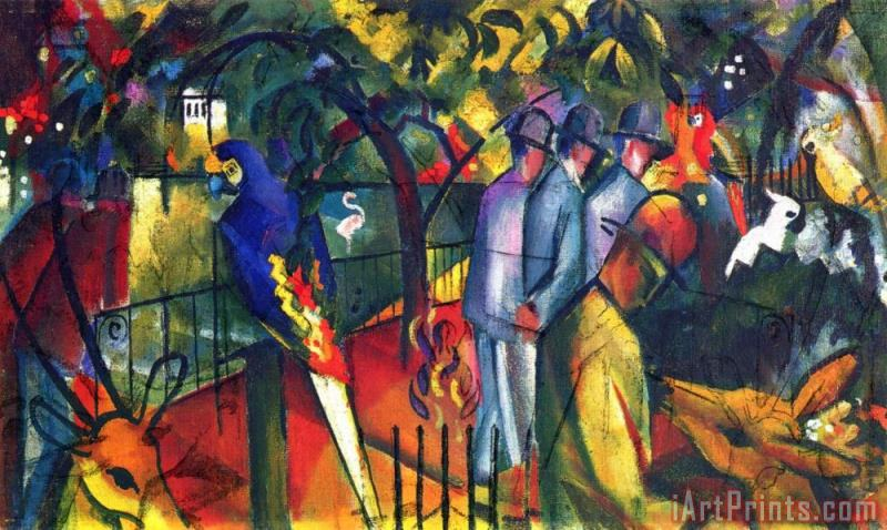 Zoological Gardens 1 painting - August Macke Zoological Gardens 1 Art Print