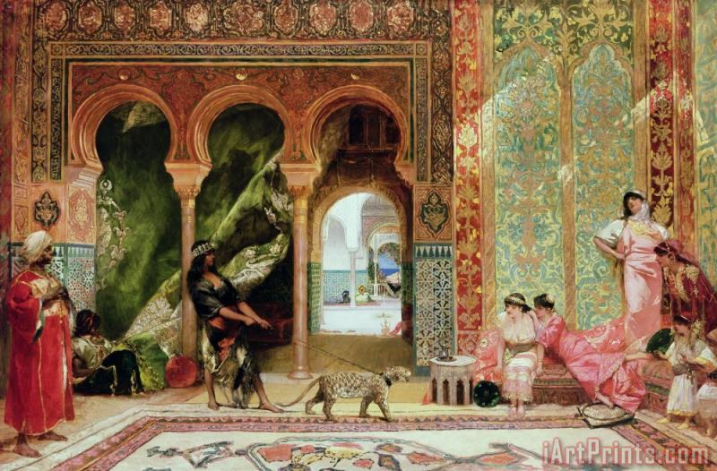 A Royal Palace in Morocco painting - Benjamin Jean Joseph Constant A Royal Palace in Morocco Art Print