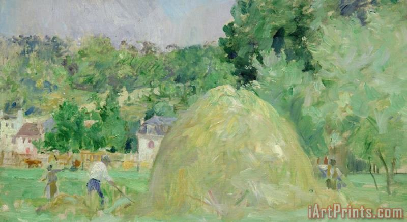 Haystacks At Bougival painting - Berthe Morisot Haystacks At Bougival Art Print