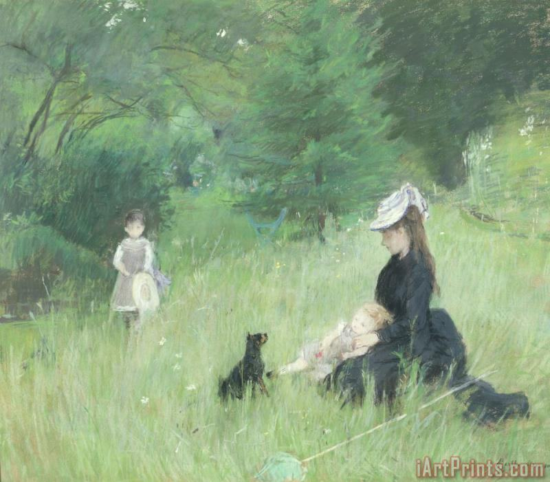 In a Park painting - Berthe Morisot In a Park Art Print