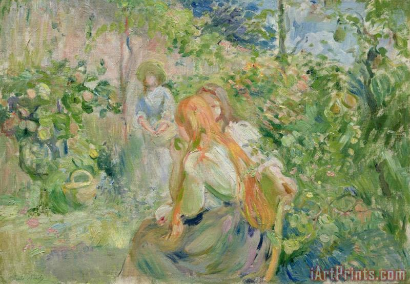 In the Garden at Roche Plate painting - Berthe Morisot In the Garden at Roche Plate Art Print