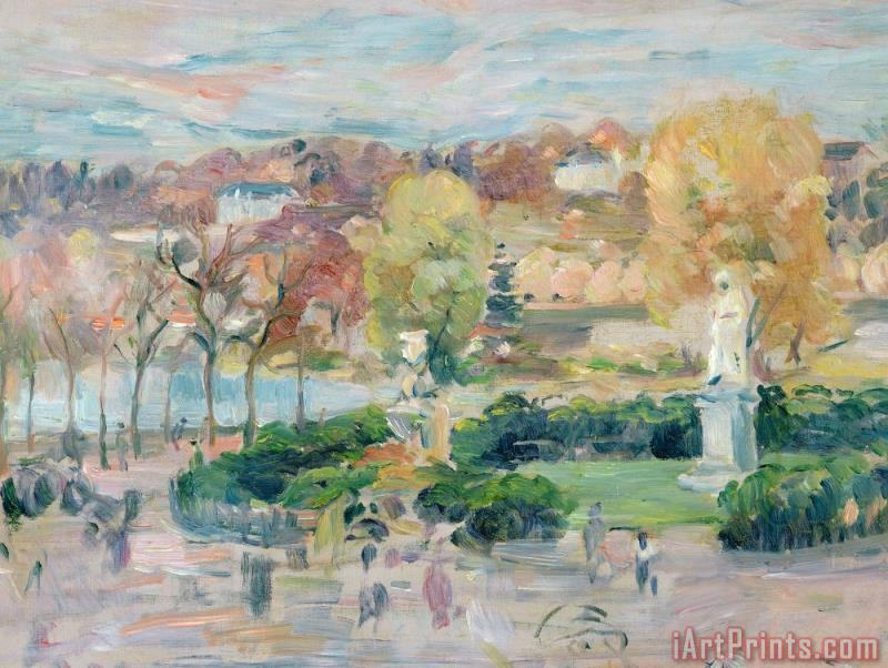 Landscape in Tours painting - Berthe Morisot Landscape in Tours Art Print