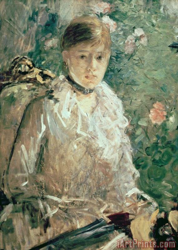 Portrait of a Young Lady painting - Berthe Morisot Portrait of a Young Lady Art Print