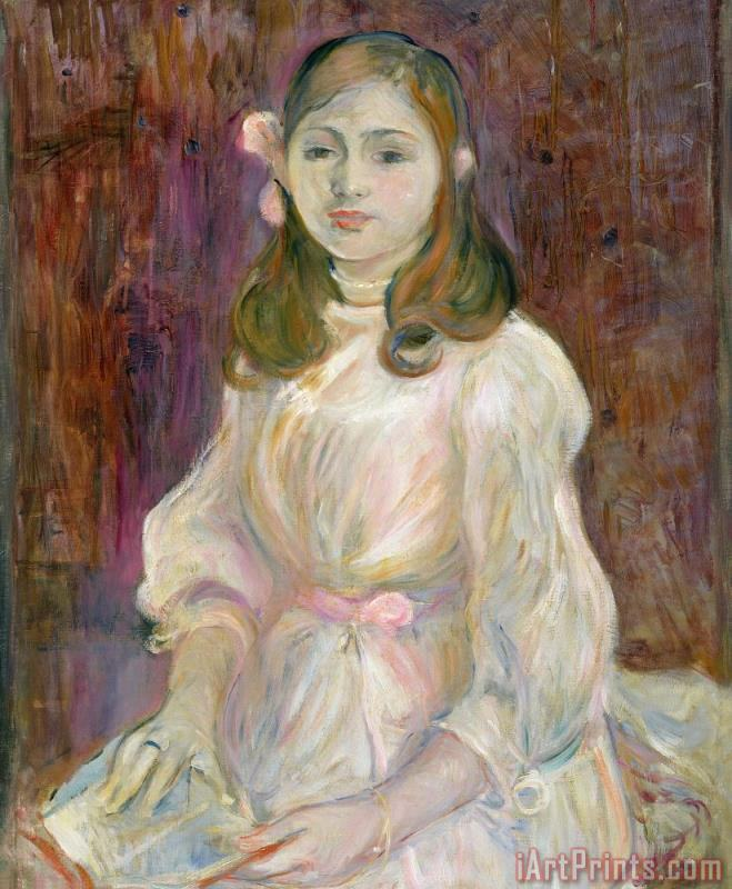 Portrait of Julie Manet painting - Berthe Morisot Portrait of Julie Manet Art Print