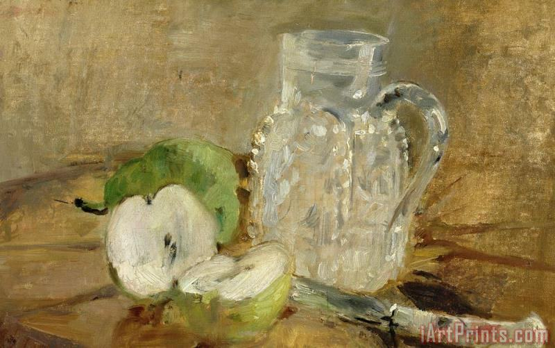 Still Life With A Cut Apple And A Pitcher painting - Berthe Morisot Still Life With A Cut Apple And A Pitcher Art Print