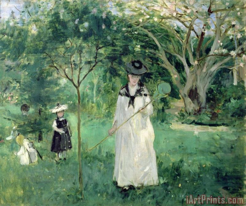 The Butterfly Hunt painting - Berthe Morisot The Butterfly Hunt Art Print