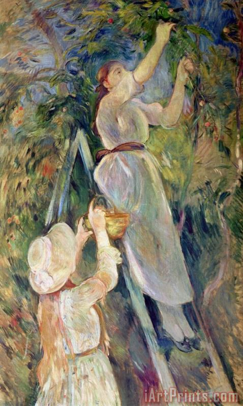 The Cherry Picker painting - Berthe Morisot The Cherry Picker Art Print