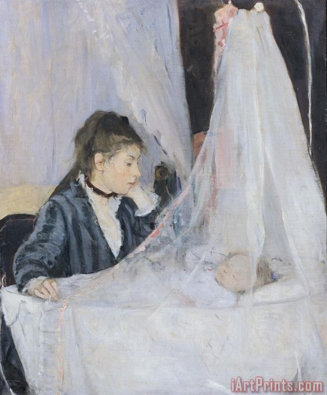 The Cradle painting - Berthe Morisot The Cradle Art Print