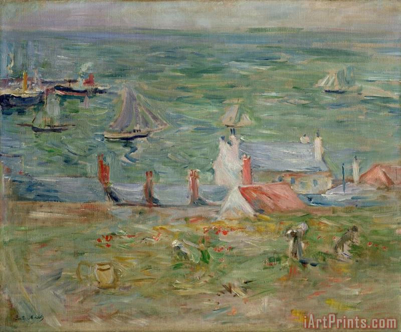 The Port of Gorey on Jersey painting - Berthe Morisot The Port of Gorey on Jersey Art Print