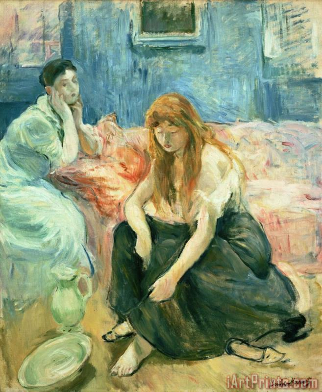 Two Girls painting - Berthe Morisot Two Girls Art Print
