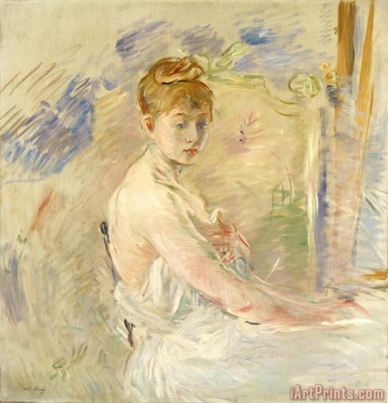 Young Girl Getting Up painting - Berthe Morisot Young Girl Getting Up Art Print