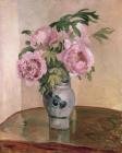 A Vase of Peonies by Camille Pissarro