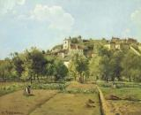 The Gardens of the Hermitage by Camille Pissarro