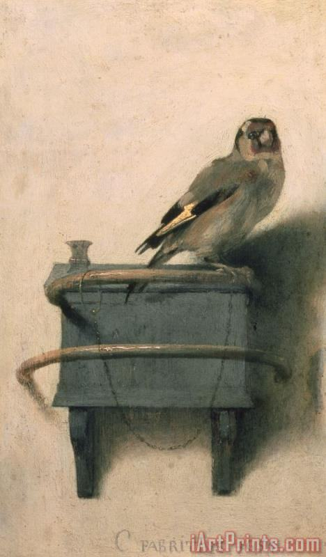 The Goldfinch painting - Carel Fabritius The Goldfinch Art Print