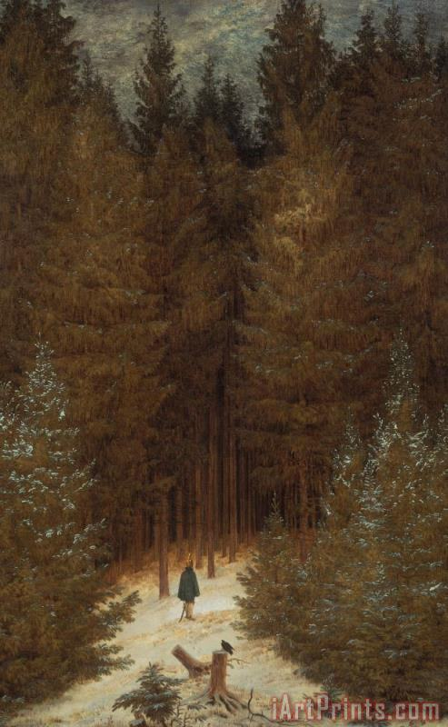 Caspar David Friedrich Hunter in the Forest Art Print