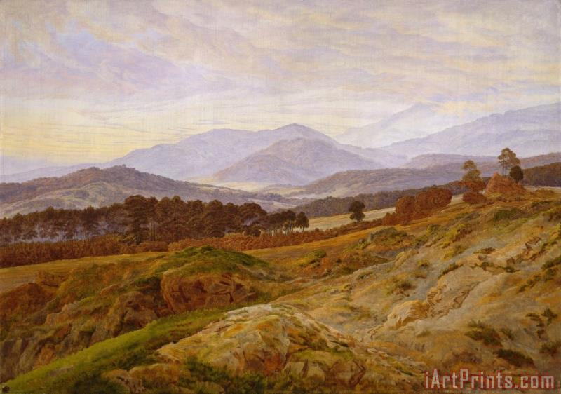 Mountain in Riesengebirge painting - Caspar David Friedrich Mountain in Riesengebirge Art Print