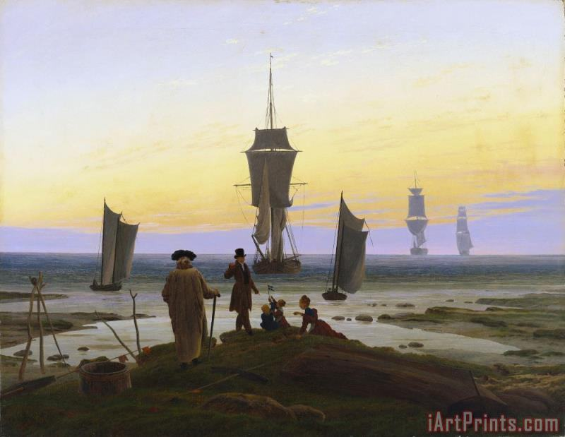 The Life Stages painting - Caspar David Friedrich The Life Stages Art Print