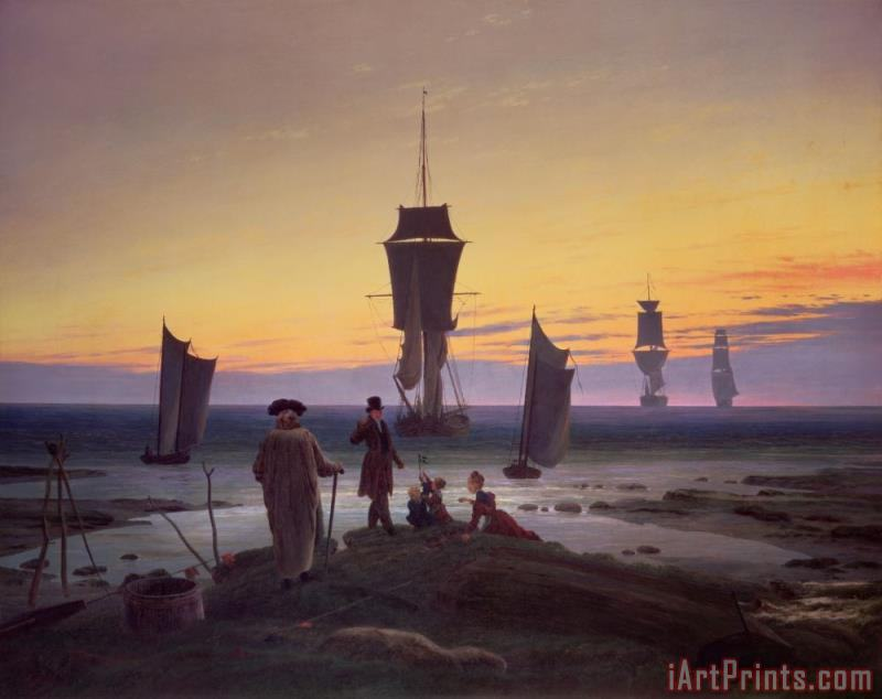 The Stages of Life painting - Caspar David Friedrich The Stages of Life Art Print