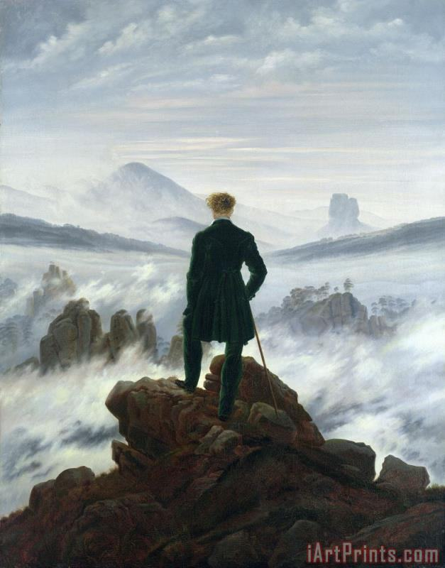 The Wanderer above the Sea of Fog painting - Caspar David Friedrich The Wanderer above the Sea of Fog Art Print