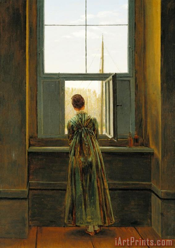 Woman at a Window painting - Caspar David Friedrich Woman at a Window Art Print