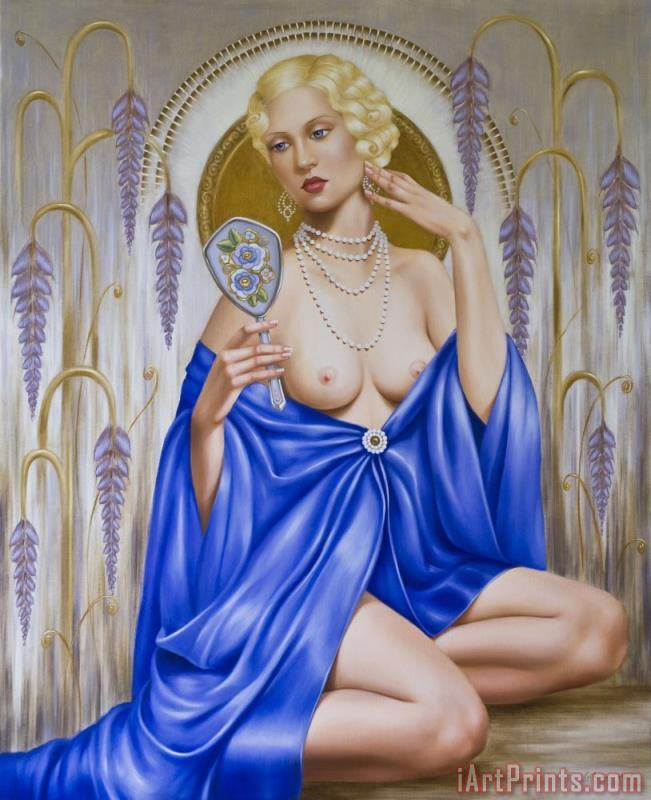 Rhapsody in Blue painting - Catherine Abel Rhapsody in Blue Art Print