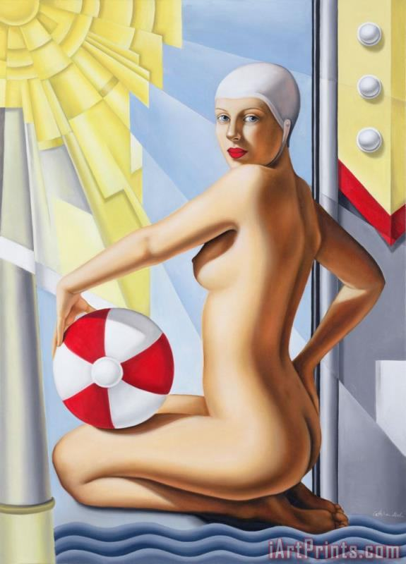 Sunworshipper I painting - Catherine Abel Sunworshipper I Art Print