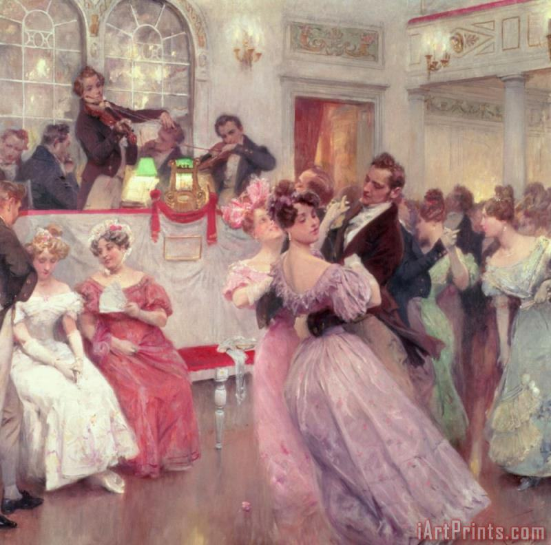 The Ball painting - Charles Wilda The Ball Art Print