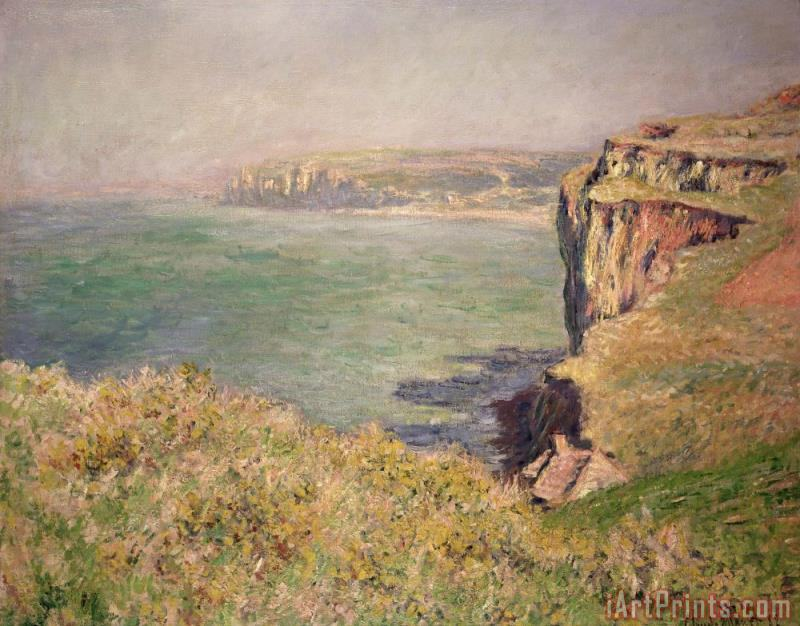 Claude Monet Cliff at Varengeville Art Print