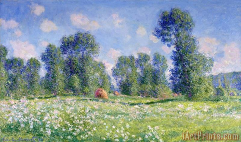 Effect of Spring at Giverny painting - Claude Monet Effect of Spring at Giverny Art Print