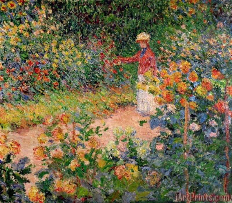 Garden at Giverny painting - Claude Monet Garden at Giverny Art Print