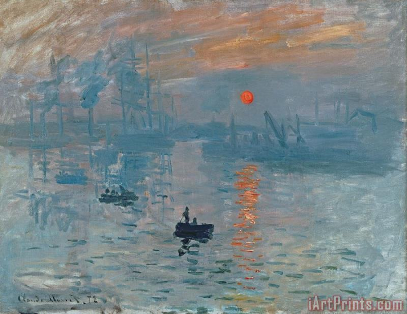 Impression Sunrise painting - Claude Monet Impression Sunrise Art Print