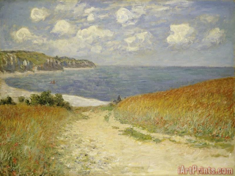 Path in the Wheat at Pourville painting - Claude Monet Path in the Wheat at Pourville Art Print
