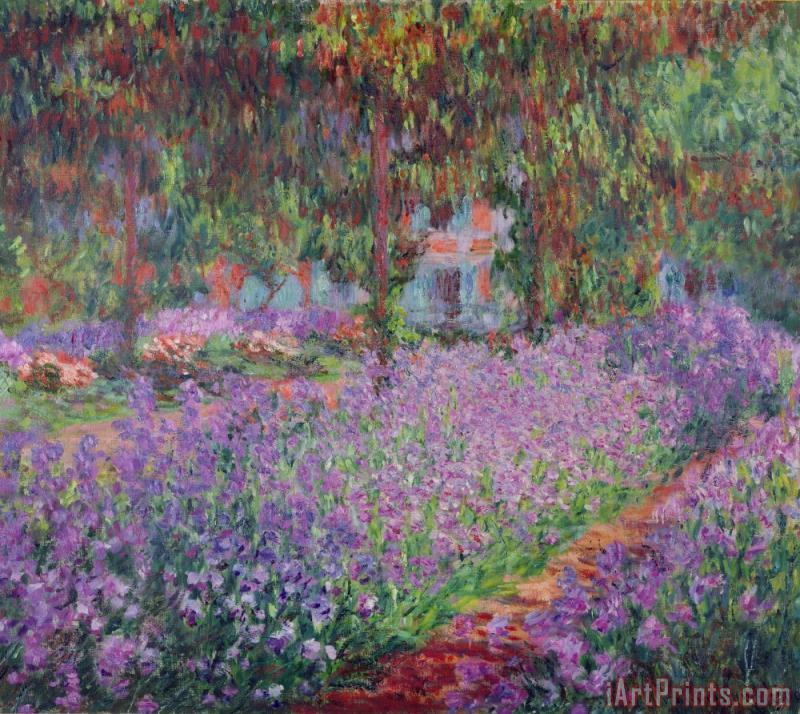 The Artists Garden at Giverny painting - Claude Monet The Artists Garden at Giverny Art Print