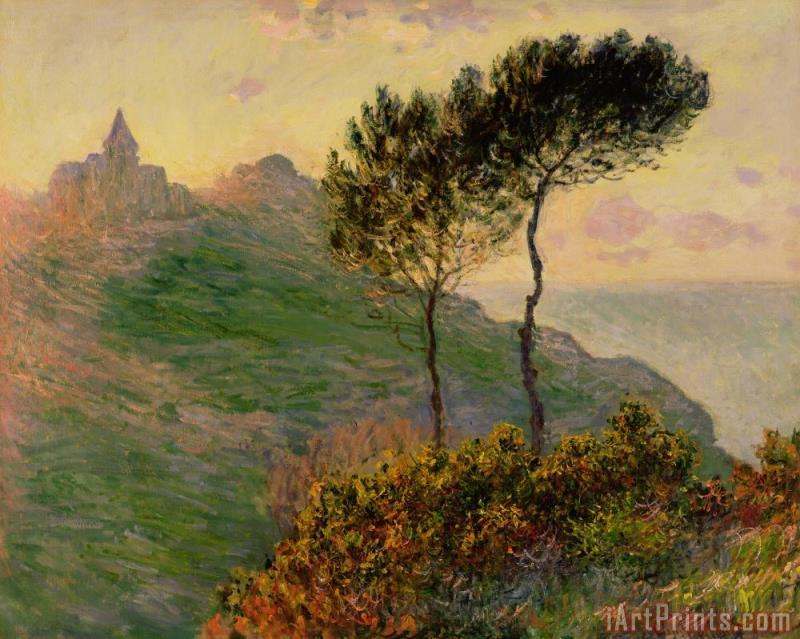 Claude Monet The Church at Varengeville against the Sunlight Art Print