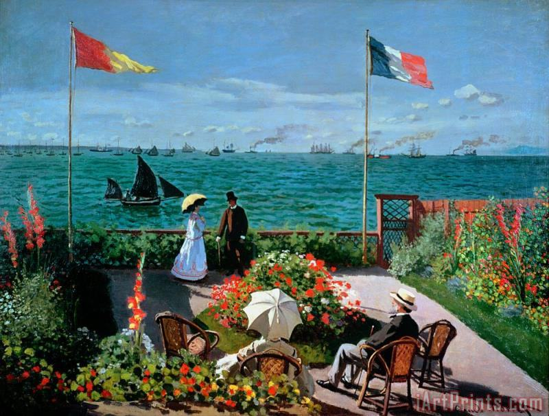 The Terrace at Sainte Adresse painting - Claude Monet The Terrace at Sainte Adresse Art Print
