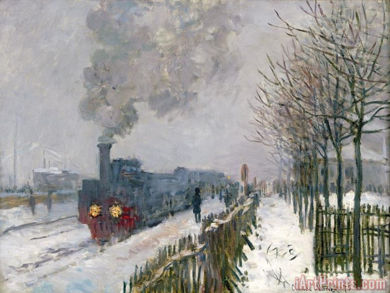 Claude Monet Train in the Snow or The Locomotive Art Print
