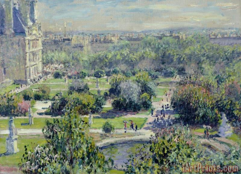 View of the Tuileries Gardens painting - Claude Monet View of the Tuileries Gardens Art Print